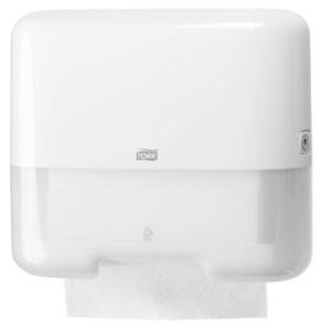 Мини диспенсер Tork для листовых полотенец Singlefold (ZZ/C-сложения) белый 553100
