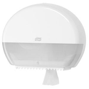 Диспенсер белый для туалетной бумаги Tork в мини рулонах 555000